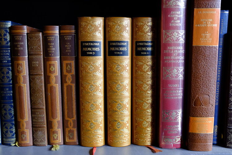 French Book Books Dartagnan Education France Group Of Objects Library Libro No People Paris Used Books