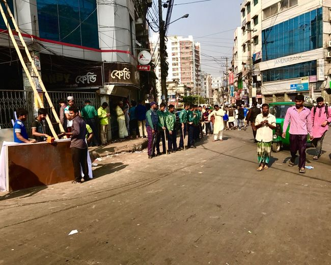 Building Exterior Architecture Built Structure Real People Men City Large Group Of People Outdoors Women Day Land Vehicle Sky Adult People Politics Unrest Volatile Police Chittagong Bangladesh Friday EyeEmNewHere