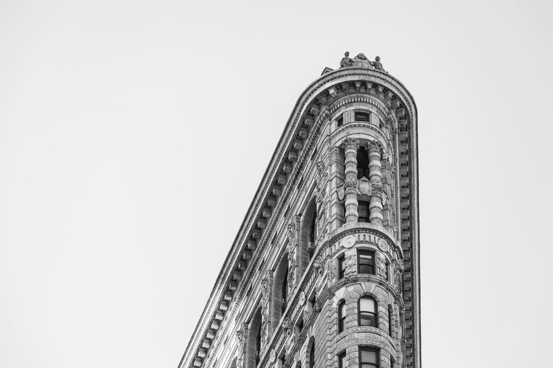 Corner of Flatiron Low Angle View Architecture Sky Built Structure Belief Religion Building Exterior The Architect - 2018 EyeEm Awards