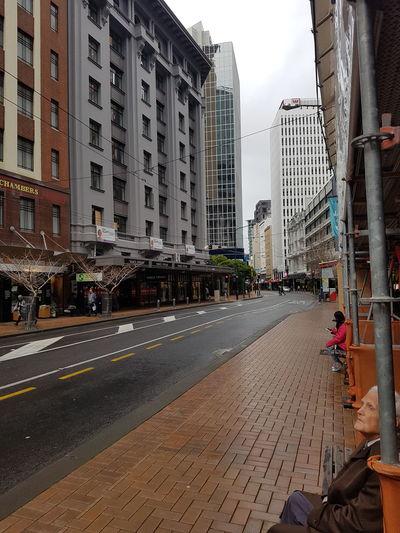 Cityscape City Life Tall Buildings Rainy Days Metropolis Wellington  New Zealand