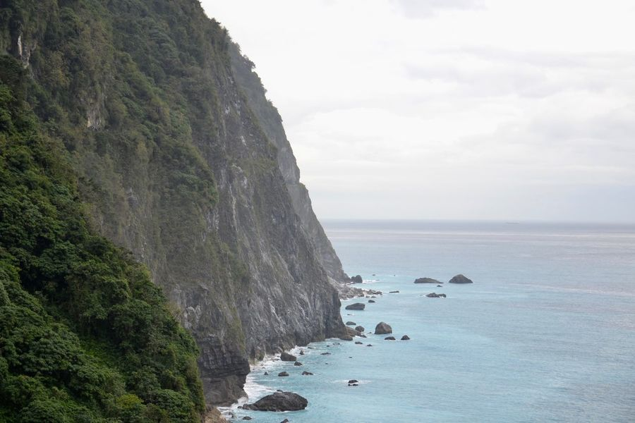Taroko National Park Beauty In Nature Cliff Day Horizon Over Water Nature No People Outdoors Scenics Sea Sky Tranquil Scene Tranquility Water