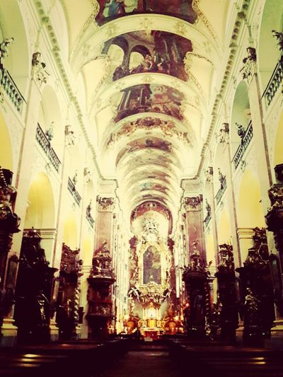 Symmetrical Czech Republic St. Peters Cathedral Travelling