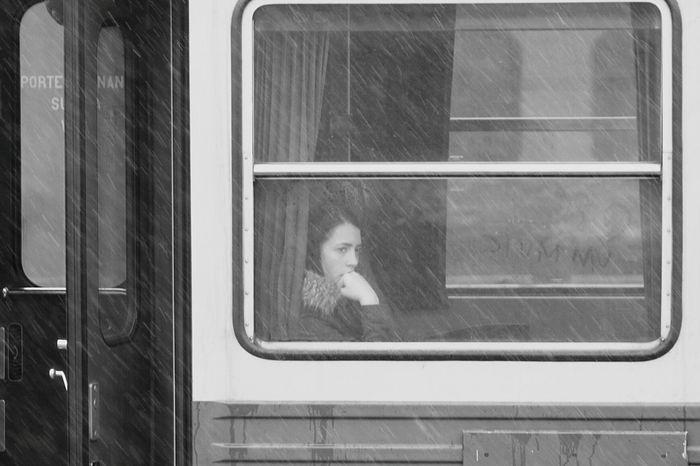 Girl on the train Traveling Public Transportation Window Train Portrait Of A Stranger Real People Railway Street Photography Streetphotography Train Women Window Women Of EyeEm Women Around The World
