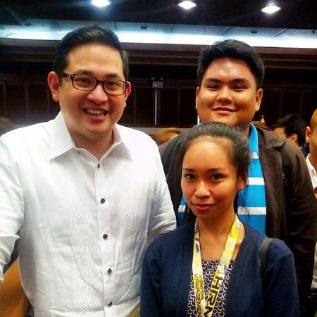 thank god for this opportunity. with Senator Bam Aquino. Perksofbeingasscofficer