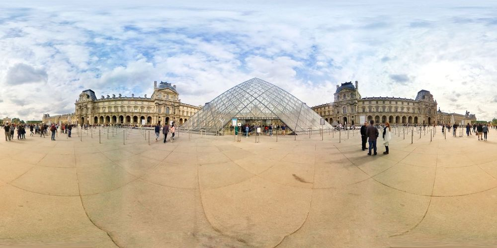 Louvre Museum Pyramid vr 360 degrees in Paris France 360 Degree 360 Panorama 360° Pictures  360° Panoramic Views Eiffel Tower Museum Paris France Tourism Louvre City Sand Beach Sky Pyramid Amusement Park Ride Carousel Carousel Horses Merry-go-round Ferris Wheel Amusement Park Pyramid Shape Mayan Civilization Traveling Carnival Triangle Rollercoaster Camel Ancient Egyptian Culture Egyptian Culture EyeEmNewHere