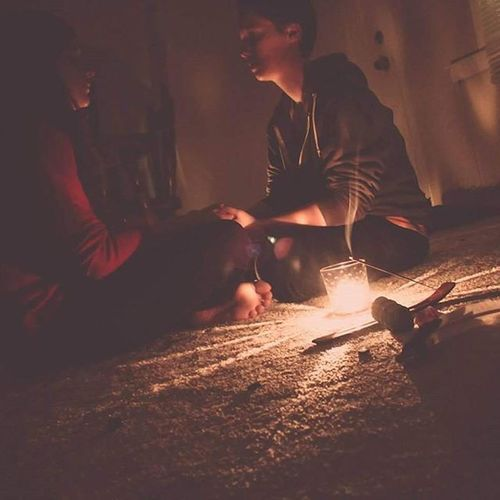 Throwback to a Wicca  Photoproject from this last fall. Wiccan Healingceremony Incense Candles Candlelight
