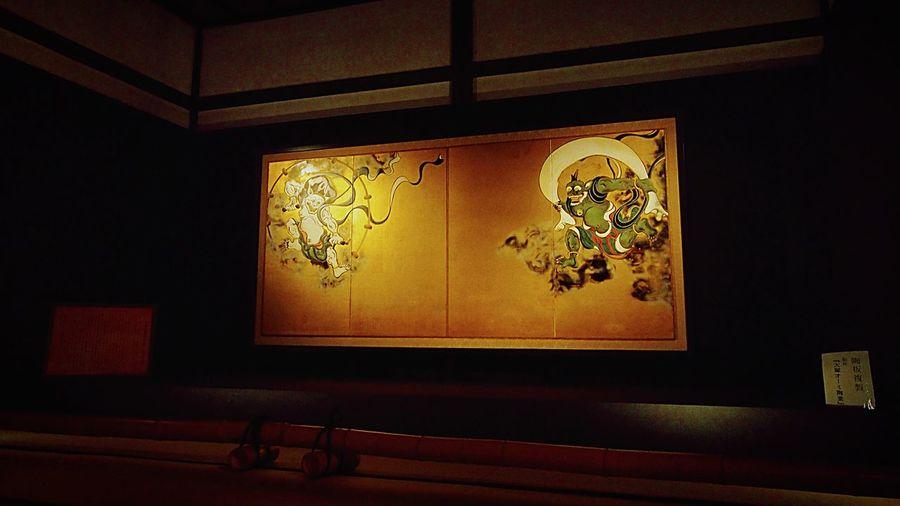 建仁寺の風神雷神図です。 Kyoto,japan Japanese Temple Kyoto Kyoto, Japan Kenninji Temple Kennin-jitemple Learn & Shoot: After Dark