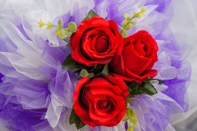 Artificial Flowers Beautiful Bouquet Close-up Decoration Flower Indoors  Love ♥ No People Red Color Romance Rose - Flower Wedding