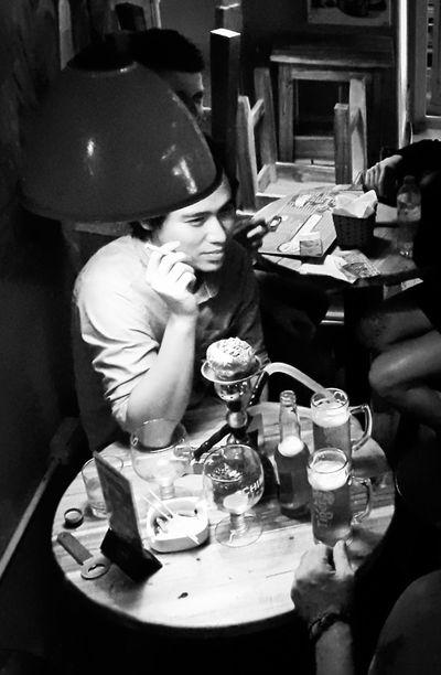 Bar Scene Hanoi Vietnam Smoking Drinking Bar Pub Booze Old Quarter Hanoi, Vietnam Late Late Night Blackandwhite Black And White Black & White Blackandwhite Photography Black And White Photography Blackandwhitephotography Black&white Up Close Street Photography Boozer Hanging Night Seedy My Favorite Photo