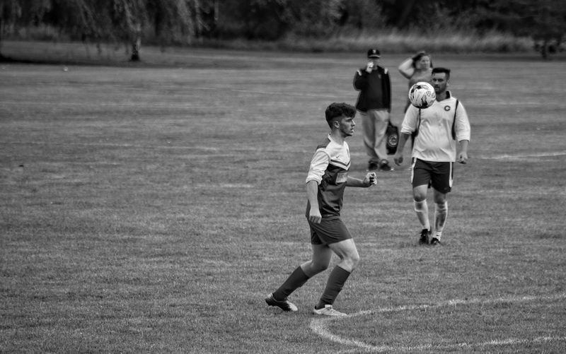 Full Length Outdoors Sports Team Friendship Sport Running Ball Soccer People Watching Real People Monochrome Black And White Football Sports Sports Photography Activity Local Sports Ashford Kent Kicking It Kick The Week On EyeEm