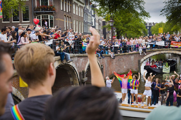 Crowd enjoying at homosexual event