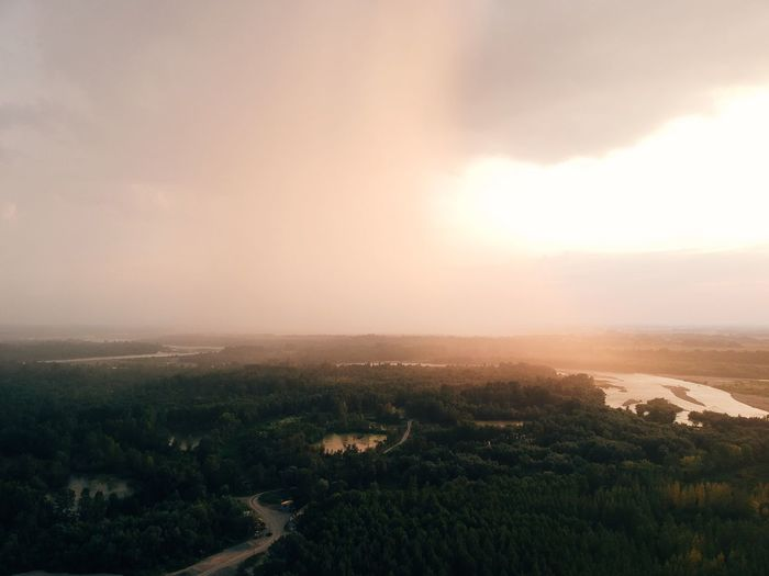 Rainy sunset