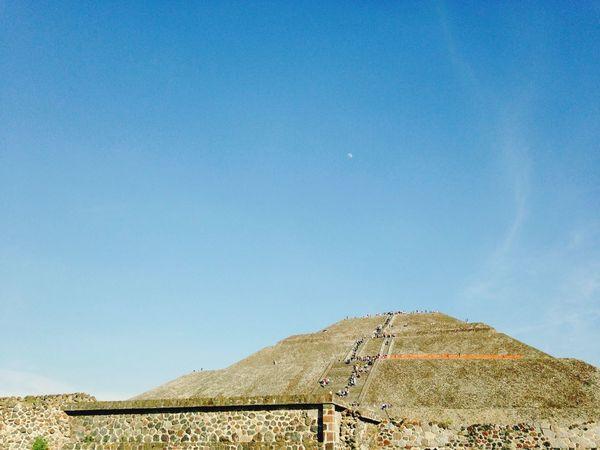 Teotihuacan Mexico Piramide Sun Sky Moon Archeology
