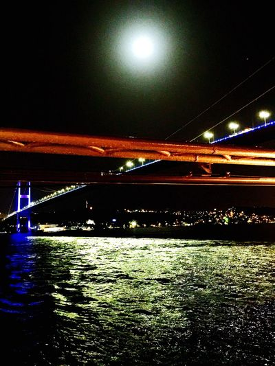 Moon Sea Moonlight Moonlightscape Moonphotography Bosphorus Bosphorus Bridge Bosphorus Istanbul Moon Light Reflection Mobile Photography IPhoneography Mobilephotography Nightphotography Night View Nighttime