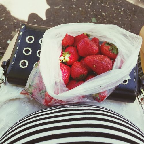 Strawberries Strawberry Berry Berrys Srtiped Frock