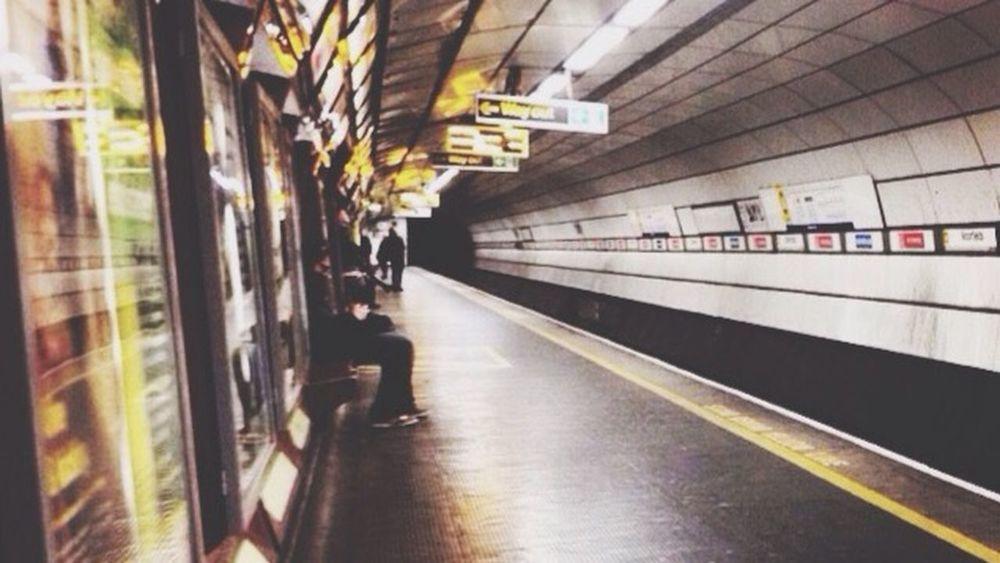 Underground Perspective || Trainn Commute Home Travel Tickets Nighttime Photography Underground Eyeem Photography