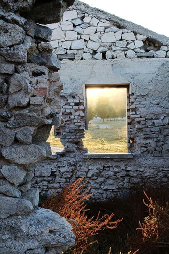 EyeEmNewHere Nature Taking Over Architecture Photography Stone Stone Wall Wall Window Sky Architecture Close-up Abandoned The Architect - 2018 EyeEm Awards 10