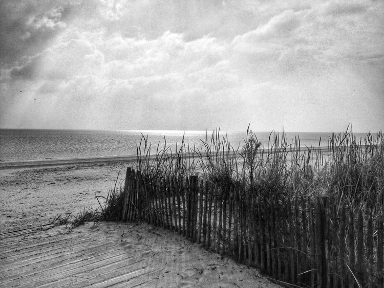 Beach Nature Blackandwhite Landscape Ile De Ré France🇫🇷 Sea Horizon Over Water Water Tranquility Scenics Tranquil Scene Sand Sky Marram Grass Beauty In Nature Outdoors Day Cloud - Sky No People Grass
