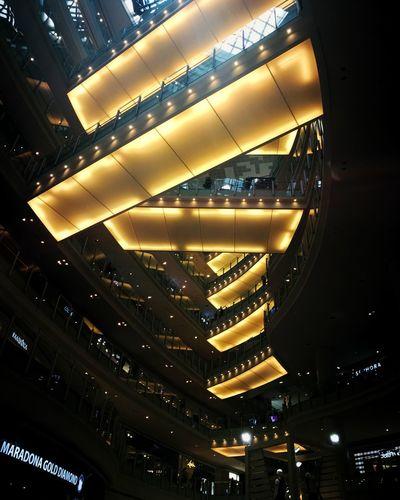 Illuminated Lighting Equipment No People Low Angle View Indoors  Mall KLCentral Shopping Mall Malaysia Kuala Lumpur The Architect - 2017 EyeEm Awards