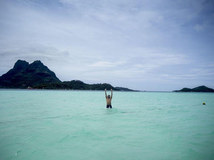 Bora Bora  Tahiti Mirrorless Olympus Om-d E-m10 Swimming With The Fish Pacific Ocean Honeymoon Overwater Bungalow