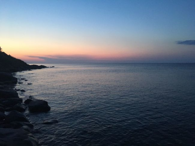 Sea Sunset Water Scenics Beauty In Nature Tranquil Scene Tranquility