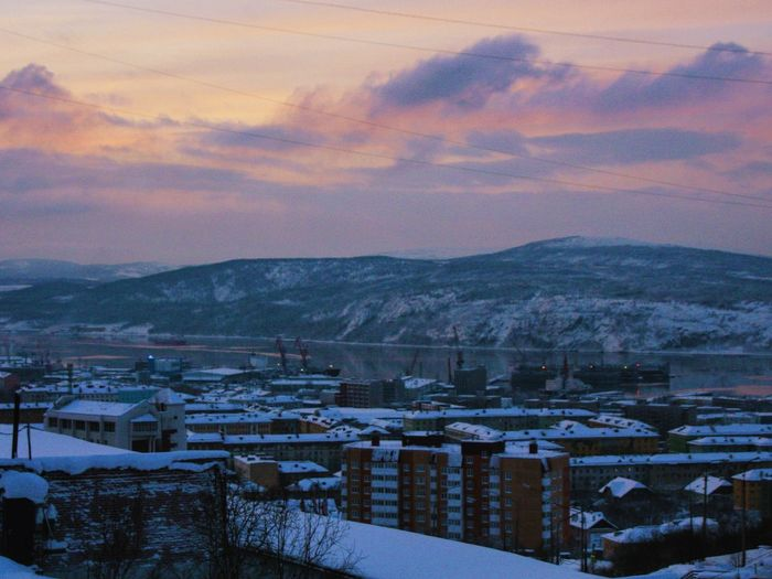 Beyond the Polar Circle. Murmansk, Russia. North Northern Russia Urbanexploration Streetphotography Urbanphotography Urbex Urban City Cityscapes Winter Cityscape Murmansk Urban Landscape Landscape Hills Nature Clouds From My Point Of View From The Top