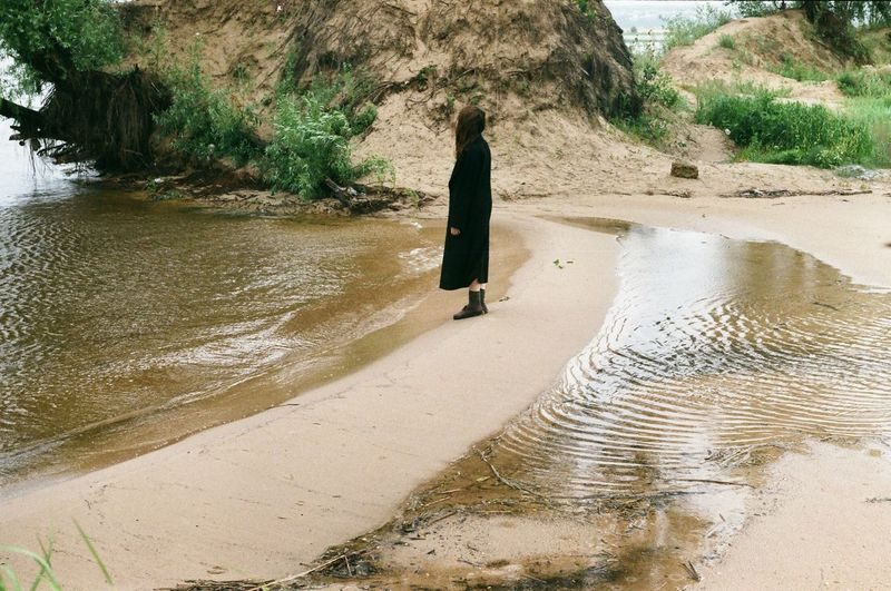 #Nature  #filmphotography #zenitET #Nature  Real People Full Length Water One Person Lifestyles Nature Walking Beach Outdoors Sand Day Land Sunlight Women Tree Plant