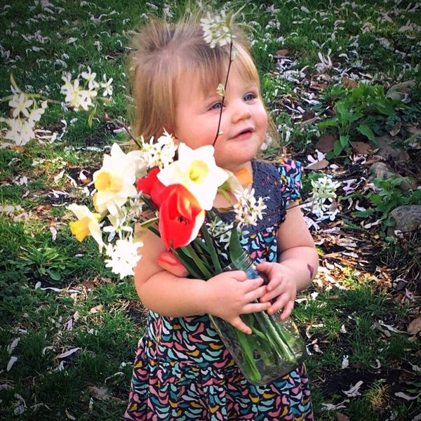 Flower Child Flower Childhood Outdoors Grass Nature Beauty Smiling Blond Hair Day Wanderlust Photography Peace Tranquility Happy Love Springtime Spring Flowers Toddler