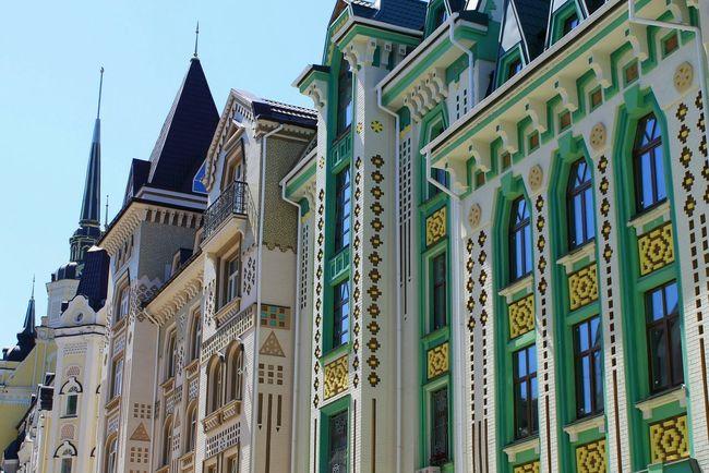 Architecture City Vozdvizhenka Photo Beautiful Walking Kyiv Ukraine Canon Building City