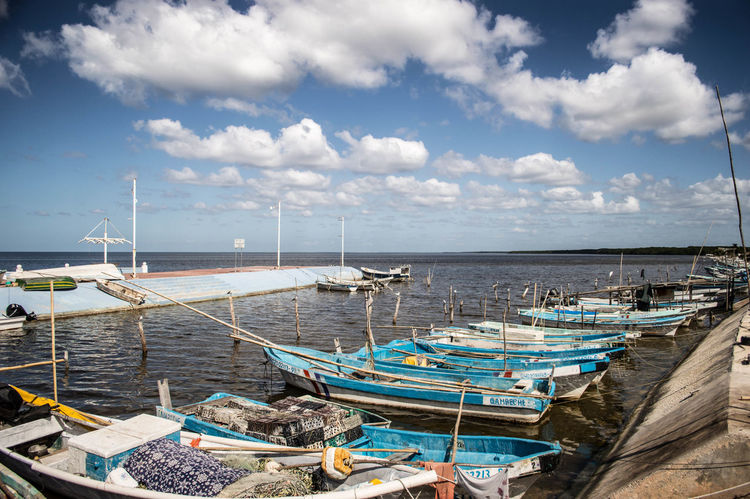 #cloud #mar #sea Beach Cloud - Sky Day Harbor Landscape Moored Nature Nautical Vessel No People Outdoors Sailboat Sailing Sea Sky Transportation Travel Destinations Vacations Water Yachting