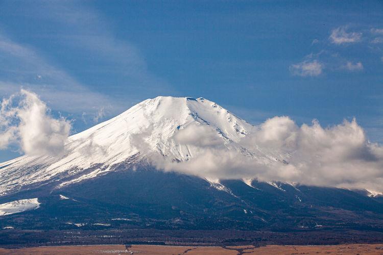 Mount fuji on the open sky