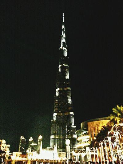 Cities At Night Emarites Tallest Building Burj Khalifa Downtown Dubai