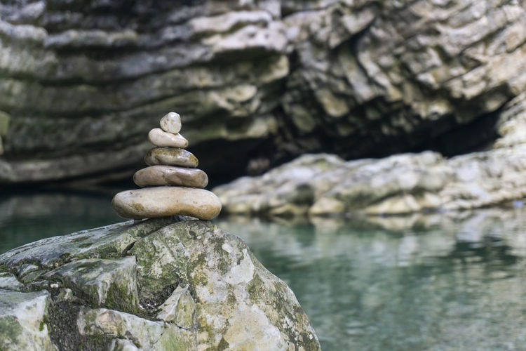 Stack of stones in water