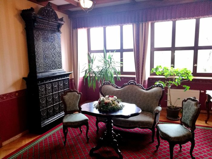 Dikļi Palace Latvia Interrior Interrior Views Interrior Shoot Luxury Palace Hotel Hotel Hotel View Indoors  Historical Building Interior Design Home Interior Window No People Furniture Oven Flowers