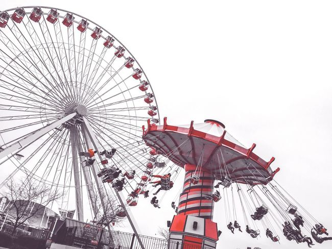 Navy pier on the cloudy day, Chicago IL USA Hello World Travelusa IPhoneography Chicago Navy Pier Ios
