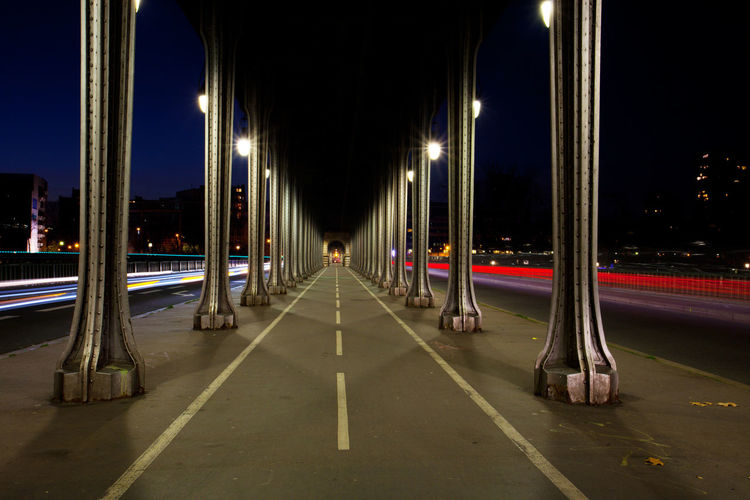 Bridge Illuminated Long Exposure Metro Night Outdoors Paris Pont De Bir-hakeim The Way Forward EyeEmNewHere