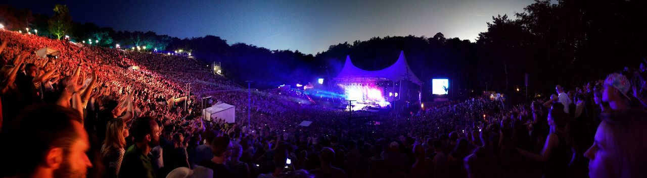 Beatsteaks Berlin Concert Festival Illuminated Outdoor Photography Outdoors Panorama PeacexPeace PxP Sunset The Great Outdoors - 2016 EyeEm Awards Waldbühne