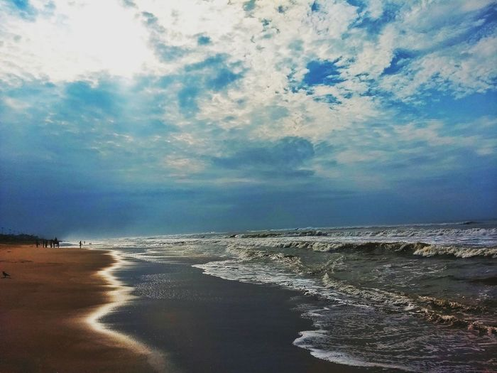 Sea Beach Cloud - Sky Horizon Over Water Sky Nature Water Scenics Sand Beauty In Nature Outdoors Summer Day