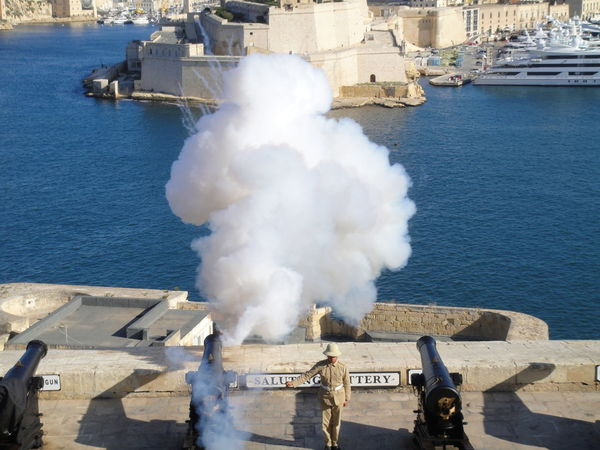 Saluting Battery Malta Valetta,Malta Cannon City City Of Culture 2018 Fortress Sea Water Weapon