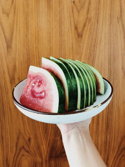 Watermelon Watermelon Cut Watermelon Fruit Fresh Fruit Food And Drink Freshness Food Sweet Food Ready-to-eat Plate Holding