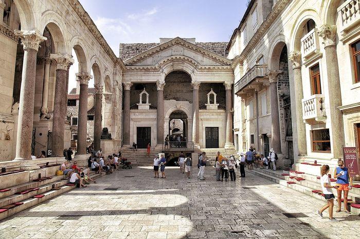 Adriatic Coast Architecture Architettura Buildings Croatia Roman Architecture Spalato Split