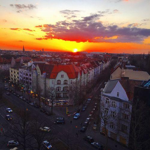 My Penthouse View Berlin My Fuckin Berlin Amazing View Sonnenuntergang Sundown Heaven Clouds And Sky Wetter Weatherchannel