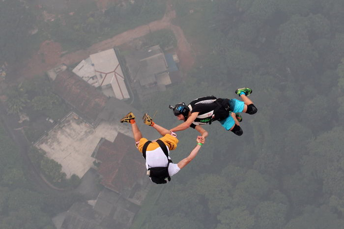AdrenalineRush Annual Base Jumping Courage Gliding Go Pro Hanging Out KL TOWER B KL TOWER Base Jump 2015 KLCC Tower Kuala Lumpur Kuala Lumpur Malaysia  Outdoor People Sky Gliding Sports