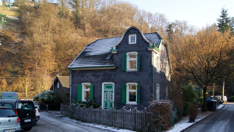 Fairytale  Solingen Architecture Autumn Building Building Exterior Built Structure Car Change City Cottage Day Fairytale Cottage German House Germania Germany House Land Vehicle Mode Of Transportation Motor Vehicle Nature No People North Germany Plant Residential District Road Sky Snow Transportation Tree