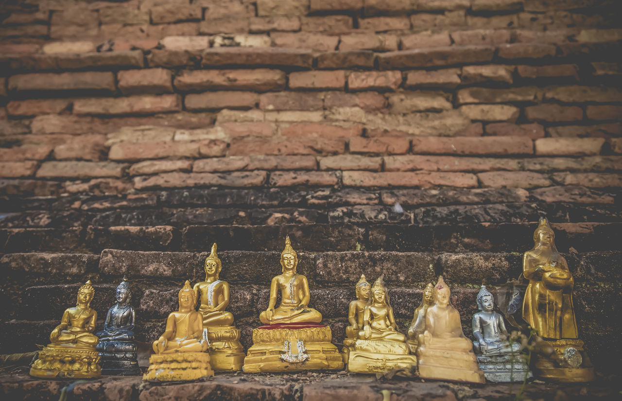 Buddha Statues At Historic Temple