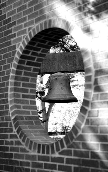 Rustic bell Sunlight No People Day Outdoors Architecture Close-up Bell Tree Single Object Building Exterior Backgrounds
