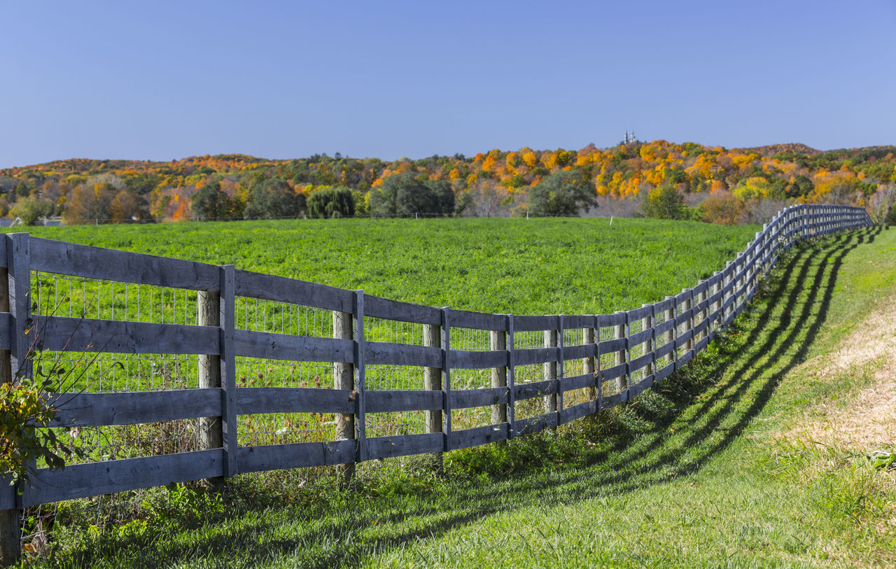 Wooden Fence On Field
