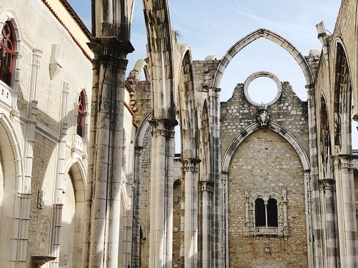 Lisbon Lisboa Lisboa Portugal Lisbon - Portugal Portugal Architecture Built Structure Building Religion Building Exterior Place Of Worship Spirituality Low Angle View Belief The Past History Arch No People Day Sky Nature Travel Destinations Outdoors Architectural Column