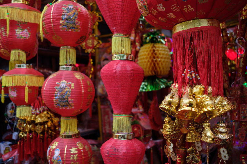 lantern display Chinese Tradition Chinese Traditional Style Chinese Traditional Culture Lantern Art Chinese Lantern Chinese Lantern Festival Chinese New Year Close-up Cultures Day Decoration Focus On Foreground Hanging Lantern Lantern Festival Lighting Equipment No People Outdoors Red