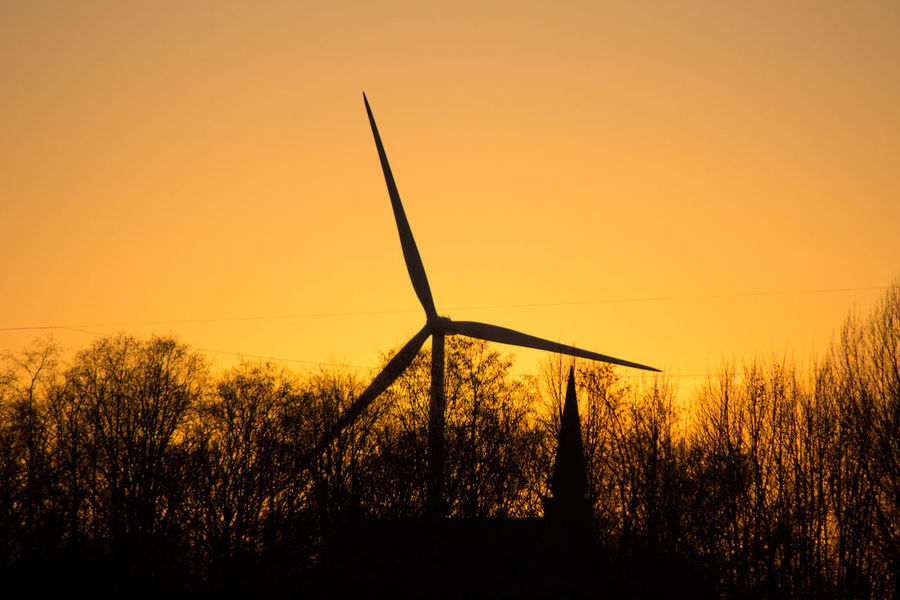 Sunset Shillouette Alternative Energy Beauty In Nature Day Environmental Conservation Field Fuel And Power Generation Grass Landscape Nature No People Outdoors Renewable Energy Rural Scene Silhouette Sky Sunset Tranquil Scene Tranquility Tree Wind Power Wind Turbine Windmill